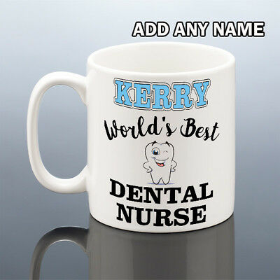 BEST DENTAL NURSE MUG Christmas Birthday Gift Women Her Dentist Cup Dentists • 7.99£