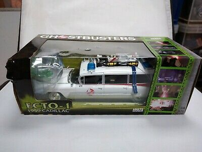 Ghostbusters Ecto 1 1:18 Diecast Model With Slimer- Box And Model Has Damage • 89.99£