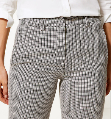 £12.74 • Buy M&S Ladies Trousers Black Mix Fine Check Straight Leg Tailored BNWT Marks