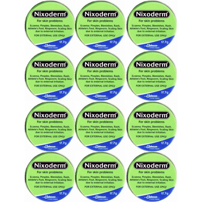 £32.19 • Buy Nixoderm Cream For Eczema, Blemishes, Pimples, Rashes, Athlete Foot (Pack Of 12)