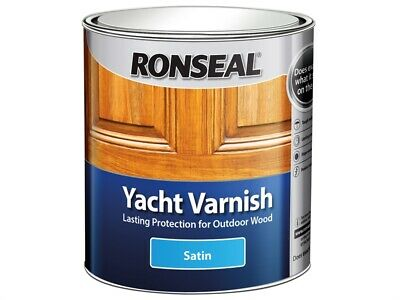 Ronseal RSLYVS250 Exterior Yacht Varnish Satin 250ml • 12.40£