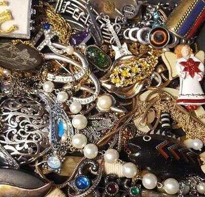 $ CDN27.75 • Buy Vintage Now Unsearched Untested Junk Drawer Jewelry Lot Estate Find L373