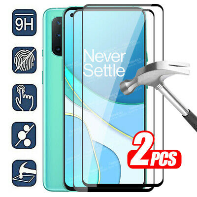 AU16.49 • Buy 2X For OnePlus 8T / 8T + 5G Black Full Cover Tempered Glass Screen Protector