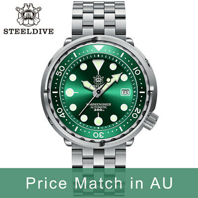 $ CDN247.84 • Buy Steeldive SD1975, TUNA 2020 Ver, NH35, AR Sapphire, Lume, Green, 300m Diver,BNIB
