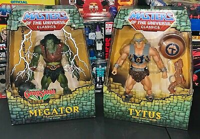 $199.99 • Buy MASTERS OF THE UNIVERSE CLASSICS Lot - TYTUS + MEGATOR 12  Figures NEW IN BOX