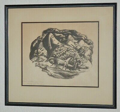 $750 • Buy  Lithograph-Millard Sheets-Hand Signed-1940-Mountain Horses