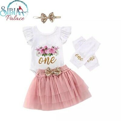 AU55 • Buy Baby First 1st Birthday Outfit Tutu Dress Cake Smash AU Stock One Mink Princess