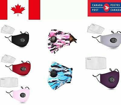 $ CDN5.65 • Buy 100% Cotton Cloth Reusable Washable Face Mask-Mouth Masks With PM 2.5 FILTER