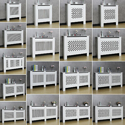 £32.90 • Buy Radiator Cover Grill Shelf Cabinet Modern Traditional MDF Wood Furniture White