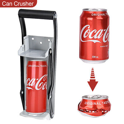 16Oz Hand Push Beer Tin Can Crusher Wall Mounted Recycling Tool Bottle Opener UK • 6.99£