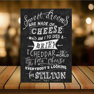 £5.04 • Buy Funny Sweet Cheese SIGN METAll PLAQUE Kitchen Bar Man Cave Pub Home Bar Cocktail