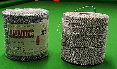 Barbours Natural White/Brown Linen Thread • 12£