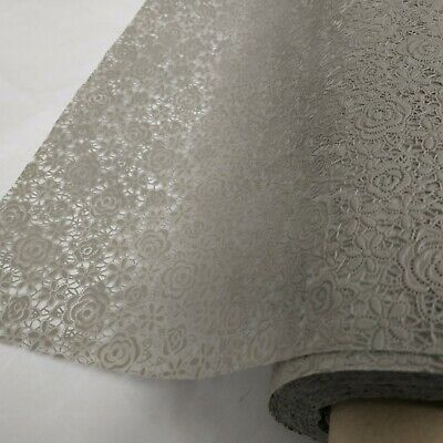Grey Floral  Lace PVC Vinyl Wipe Clean Oilcloth Tablecloth • 6.99£