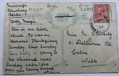 Genealogy Postcard - Miss Cleverly - Shelburne Rd, Calne - 1923. • 3.20£
