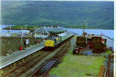 35mm Railway Colour Negative Of Class 37 196 At Kyle Of Lochalsh • 2.95£