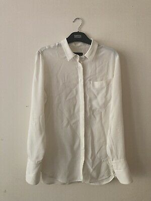 Marks And Spencer Autograph Cream Pure Silk Shirt Size 12 • 20£