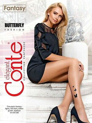 £12.93 • Buy Conte TIGHTS Butterfly Fashion | Fantasy Sexy Cute Evening Tattoo PANTYHOSE