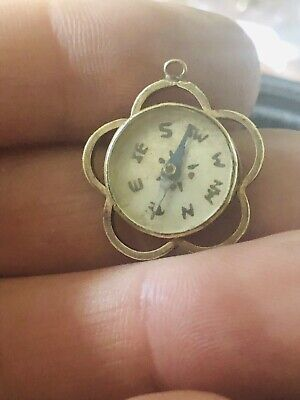 Antique Edwardian Rolled Gold Fob Compass / Pendant Rare Collectable 1900s • 0.99£