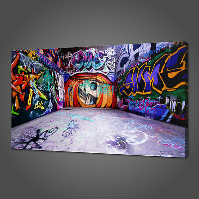 £43.11 • Buy Graffiti Street Mural Canvas Picture Print Wall Art Home Decor Free Delivery