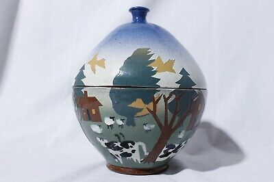 £87.61 • Buy Vaughn L. Smith Signed Westcote Bell Pottery Silhouette Lidded Jar Bowl
