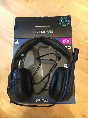 Ps4 PC Gaming Headset With Mic Microphone For PlayStation Headphones 3.5mm • 3£