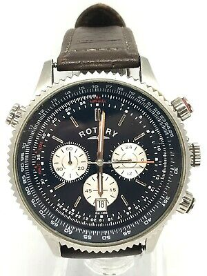 Rotary GS03642/05 Gents Chronograph Watch With Brown Leather Strap • 25.50£