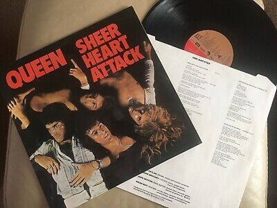 Queen Sheer Heart Attack Original LP EMC 3061 1974 Nr Mint Queen At Their Best!! • 6.90£