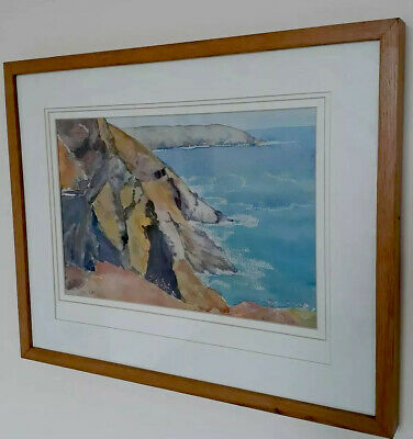 E D /Betty Clarke Orig Watercolour Painting Picture  St Ives Cornwall Coast • 52£