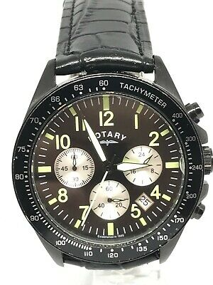 Rotary Gents Classy Chronograph Watch GS03908/04 With Brand New Black Strap • 16£
