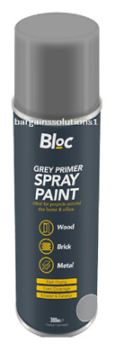 Bloc Grey Primer Aerosol Spray Paint Can Cars Wood Metal Walls Graffiti - 300ml • 5.65£