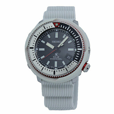 $ CDN386.18 • Buy Seiko Prospex Diver's Black Dial White Silicone Men's Watch SNE545