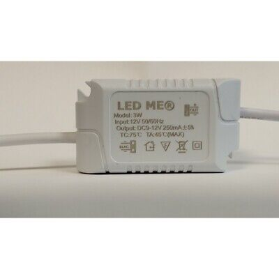 £4.95 • Buy CONSTANT CURRENT LED DRIVER 3W DIMMABLE 12V Or 24V POWER SUPPLY TRANSFORMER UK
