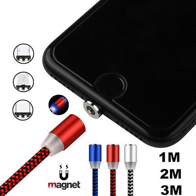 $ CDN4.99 • Buy Magnetic Micro USB/iOS/Type C Fast Charger Cable For IPhone Sumsung Galaxy S9 S8