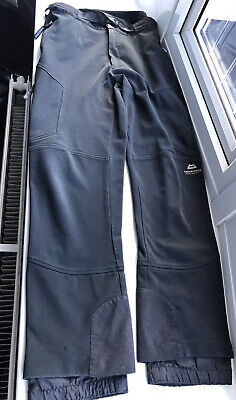 Mountain Equipment Crag Hoppers Black Trousers Windstopper Size L Stretch Pants • 26£