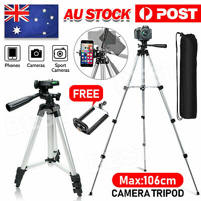 AU14.95 • Buy Universal Portable Camera Tripod Stand For Sony Canon Nikon Panasonic Camcorder