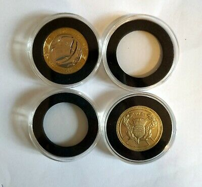 £9.99 • Buy 30 X 40mm Clear Plastic Capsule Holder With Insert Foam For £2 Two Pound Coin