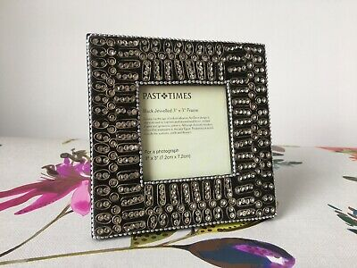 Past Times Art Deco Small Classic Photo Frame Black Jewelled For 3x3  Photograph • 14.99£