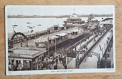 Wirral, New Brighton. The Pier. Black And White Postcard.  • 0.99£