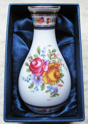 The Regal Bone China Collection TM Small Boxed Vase Flower Design • 9.95£