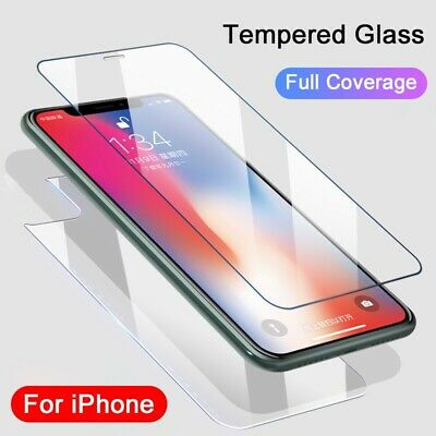 For Apple IPhone 11 Pro MAX XR Front & Back Side Screen Protector Tempered Glass • 3.35£