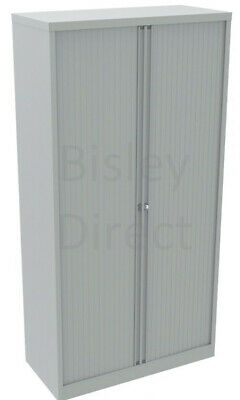 Bisley Essentials Tambour Cupboard YETB1019/4S With 4 Shelves Brand New Grey • 300£