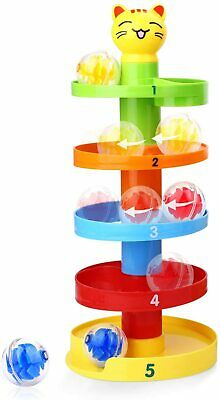 £14.49 • Buy 5 Layer Ball Drop And Roll Swirling Tower Shape Sorter For Baby And Toddler