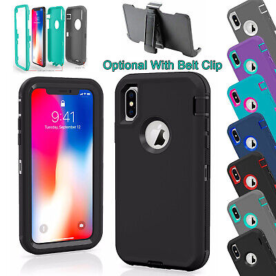 AU16.99 • Buy For IPhone 12 11 Pro XS XR MAX X 8 7 6s 6 Plus Defender Rugged Shockproof Case