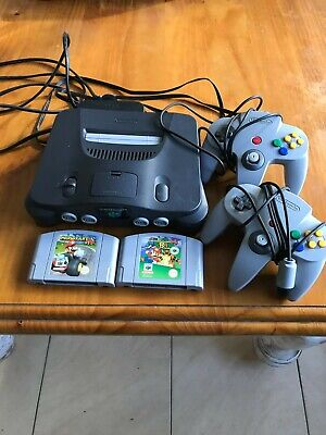 AU192.50 • Buy Nintendo 64 System Grey Console With Two Controllers And Two Games.