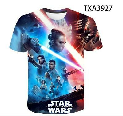 AU20.46 • Buy Star Wars: The Rise Of Skywalker 3D T-shirt Unisex Fashion Short Sleeve Tee Tops