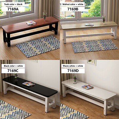 Modern Wooden Dining Long Bench Seat Metal Frame 2 People Kitchen Hallway 4Color • 44.33£