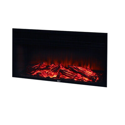 Electric Fireplace Fire Core Logs Burning Flame Effect Inset/Wall-mounted Heater • 191.99£
