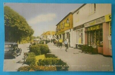 VALENTINES RP Postcard POSTED 1961 THE PARADE EAST WITTERING SUSSEX • 6.50£
