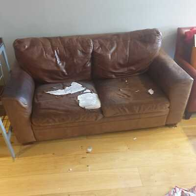 FREE: Halo Aniline Leather Sofa - Tan / Cognac • 0.99£