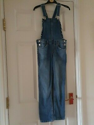 Girls H&M Denim Dungarees Age 9-10 Years Worn But In A Good Condition • 4.50£